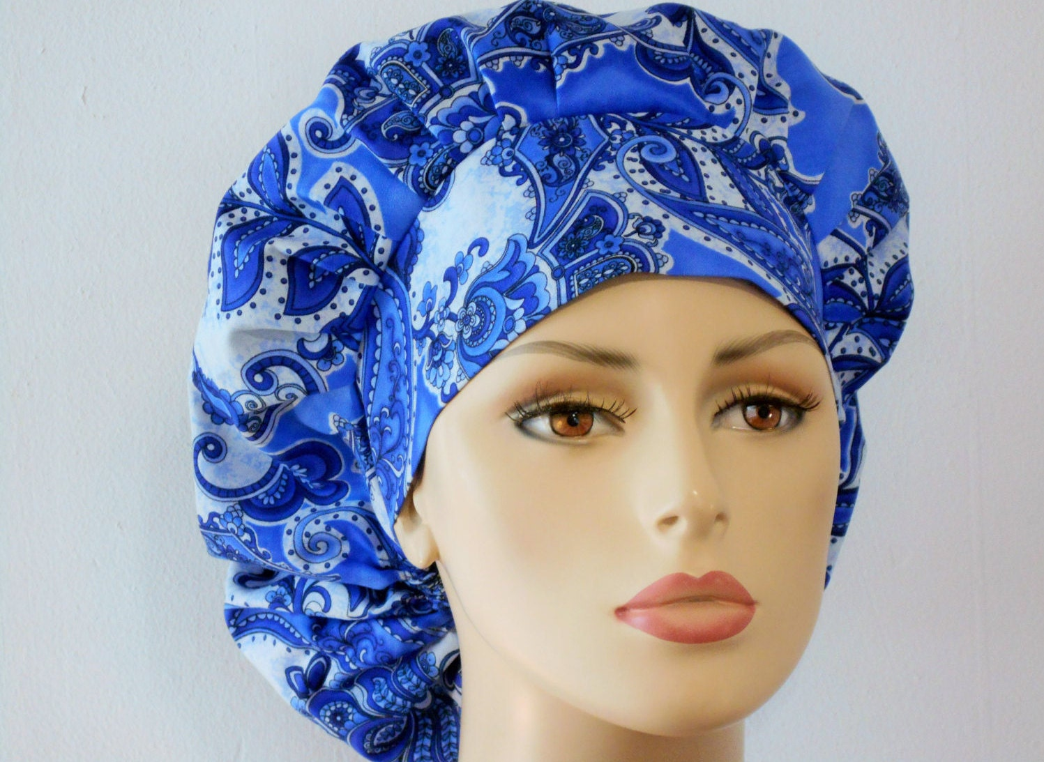 Bouffant Surgical Scrub Hat Kobalt Blue Majestic By Silvercaps