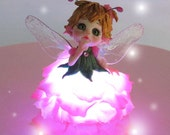 Firefly Fairy - OOAK Art Doll Sculpted from Polymer Clay