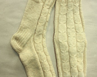 26 cm /// 10,2 inches Lovely hand knitted socks, Slipper Socks - Wool Socks  - US Men 7-7,5 /// US Women 8,5-9 /// EU 39 - 40