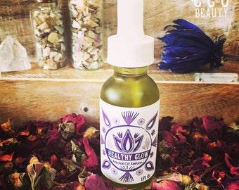 Healthy Glow Daily Beauty Facial Serum / Face Oil, Moisturizer, Ancient Blend, Anti-aging Serum, Skin Treatment, Organic, Holistic, Vegan
