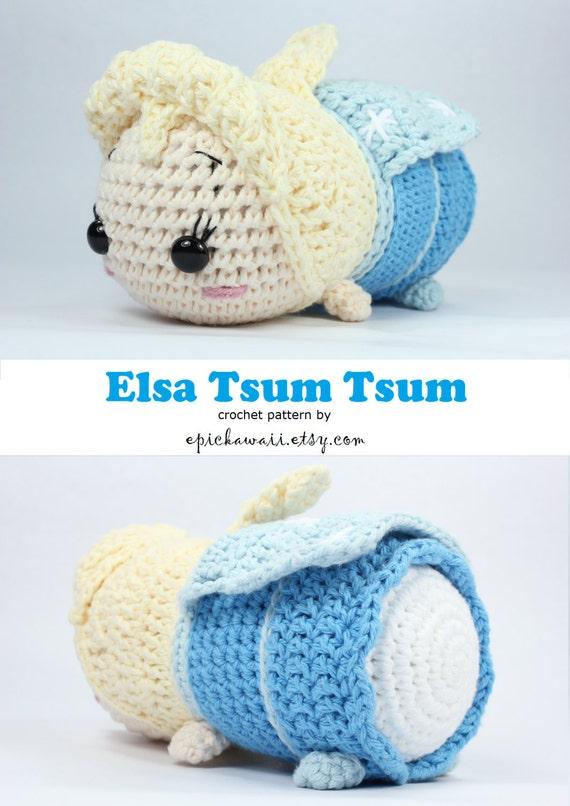 Amigurumi Tsum Tsum Free Pattern : PATTERN: Elsa Tsum Tsum Crochet Amigurumi Doll