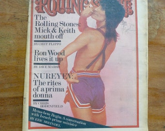 1977 Rolling Stones in Rolling Stone Magazine Newspaper Rock 'n' Roll, Keith & Mick, Ron Wood Articles #251