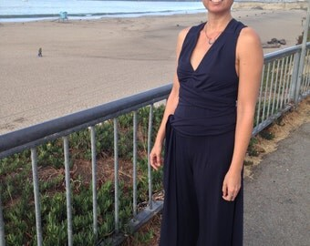 CUSTOM Take That Awesome Jumpsuit to the Beach, Palazzo Jumpsuit, Halter Jumpsuit