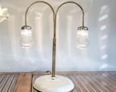 Table Lamp, Desk lighting, White lamp, Brass lamp, Mason jar light, Cool lamp, 1OAK lamp, Handmade lamp, Designer lighting, StudiORYX