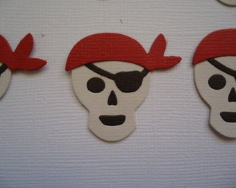 6 Pirate Skull Die Cuts for Scrapbooking Cards and Paper Crafts Embellishment
