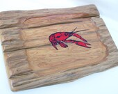 Reclaimed Basin Cypress Wood Crawfish Tray Wooden Plaque Rustic Wall Decor