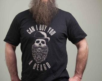 "Steampunk T-Shirt - ""Can I Buy You A Beard?"""