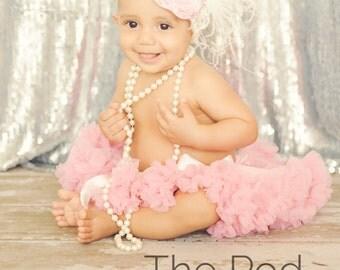 Baby Girl Tutu Pink, Infant Pettiskirt, 0-9 mo, Ready To Ship, Newborn Tutu, Petti Skirt, Pink Red Purple Peach Ivory Mint Blue Yellow