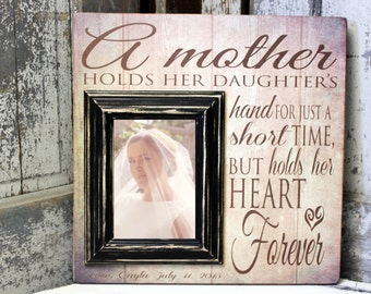 Mother Daughter Frame, Custom Picture Frame, Wedding Gift, Mother of the Bride Gift, Wedding Frame, 16x16 Picture Frame with 5x7 Frame