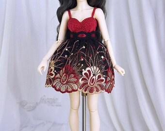 Red, gold & black dress for MSD
