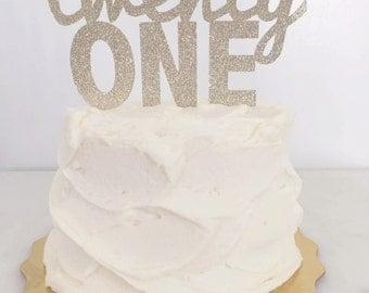 Twenty One // 21st Birthday Cake Topper