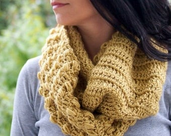 CROCHET PATTERN for color block infinity loop woman scarf  women circle  cowl  neckewarmer, DIY photo tutorial, Instant download