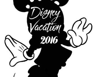 Disney Vacation Minnie tshirt design 2016