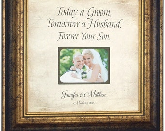 Mother Of The Groom Gift, Personalized Picture Frame Wedding Gift, 16x16