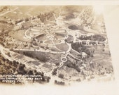 Battle Mountain Sanitarium- 1930s Vintage Photograph- View From Air Ship- Hot Springs, SD- Real Photo Postcard- RPPC- Paper Ephemera