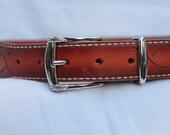 Mens , Womens leather belt , tooled leather belt , custom belt , unique belts , handmade belt ,