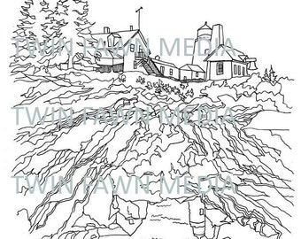 WESTMINSTER ABBEY Coloring Page Adult Book