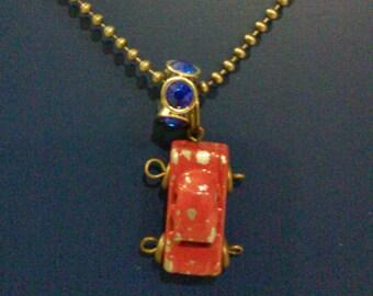 Super awesome vintage car necklace