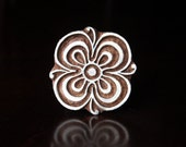 Textile Stamp, Pottery Stamp, Indian Wood Stamp, Tjaps, Blockprint Stamp, Printing Stamp Blocks- Stylized Flower