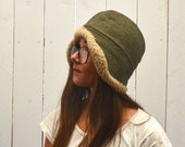 Sherpa Trapper Hat Vintage Swedish Army Military Wool Hat