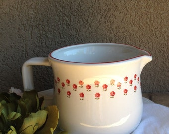 Nelson McCoy La Red Pitcher Flowers Mc Coy Vintage Pottery - #7087
