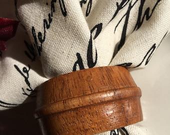 Vintage Wood Napkin Rings Brown Wooden Holders - #4846