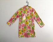 Reserved Vintage Raincoat / 1960s coat / MOD / HIPPIE / flower child