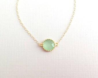 Gold Mint Bracelet. Light Mint Green. Bridesmaid Bracelet. Mint Bracelet. Bridesmaid Gift. Bridal Jewelry. Wedding Jewelry.Delicate. Dainty.