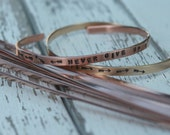"Super SKINNY 6"" x 1/8"" COPPER 16g Bracelet Blanks - 10 Pack - Copper Bracelet Making Blank for Hand Stamped Cuff"