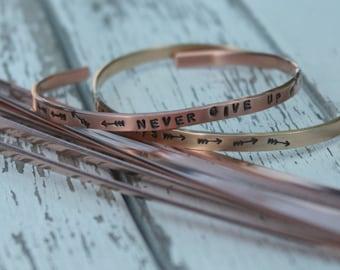 "Super SKINNY 6"" x 1/8"" COPPER 16g Bracelet Blanks - 10 Pack - Copper Bracelet Making Blank for Hand Stamped Cuff"