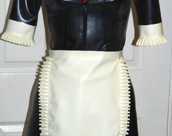 Latex  French Maid Apron Fetish Dress