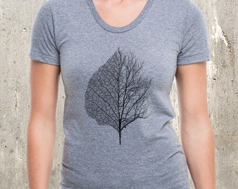 Leaf & Tree - Women's American Apparel Tri Blend T-Shirt