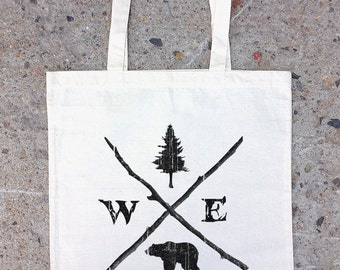 Cotton Canvas Tote Bag - Nature Compass