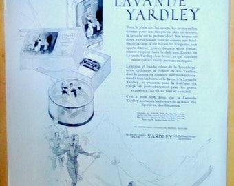Original Vintage Art Deco French Ad Lavande Yardley Parfum 1931