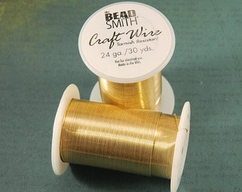 24 gauge Tarnish Resistant Gold Craft Wire from Bead Smith - 30 Yards