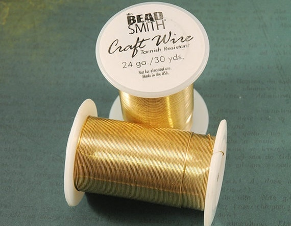 24 gauge tarnish resistant gold craft wire from bead smith for 24 gauge craft wire