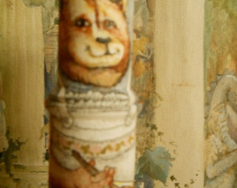 Hand Painted Mama Bear Spool Doll Dolls and Minatures Art Dolls Collectible Spool Doll
