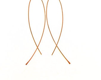 Thin gold filled fish earrings delicate minimal jewelry gift for her