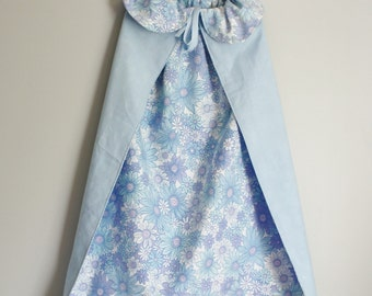 Princess cape dress up, dress up costume, blue, would fit 3-4 year old