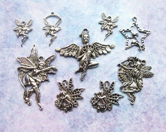Fairy Charm Collection in silver tone - C2372