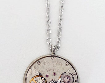 A Ladybug, Vintage Watch movement and Swarovski - Steampunk Inspired Timeless Relic