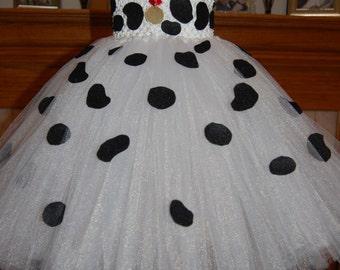 101 Dalmatian Inspired Tutu Dress
