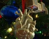 Anatomical Heart of Gold Magnetic Ornament