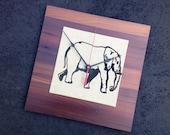 Elephant Clock, Wood Clock, Reclaimed Wood, Unique Gift, Housewarming Gift