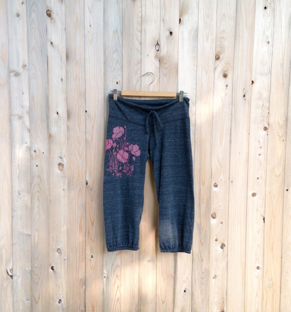can't wait for spring Poppies Cropped Lounge Pants in Berry, S,M,L,XL