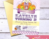 Minnie Mouse Pumpkin Patch Picnic Birthday Invitation