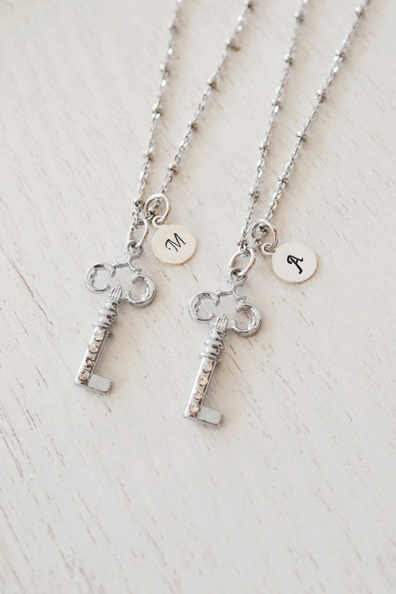 items similar to best friend necklace personalized silver
