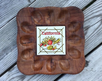 Deviled Egg Tray California Memorabilia Serving Tray Trivet