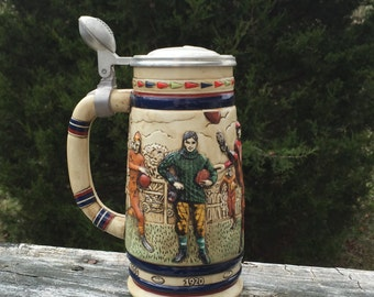 Beer Stein Football Made in Brazil Vintage Football Mens Gifts