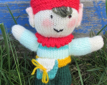 Hand-Knitted Pixie Doll - Woodland/Fairy Land/Forest Folk/Little People